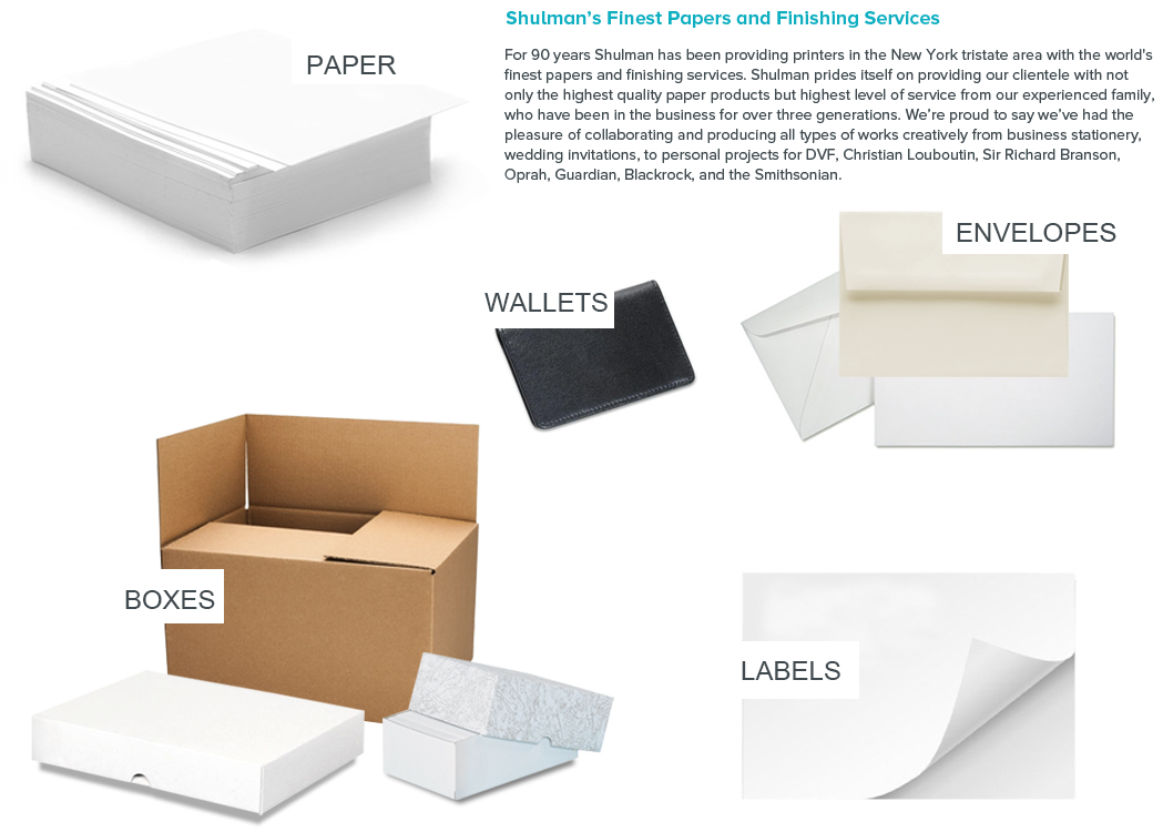 Shulman Paper. Products